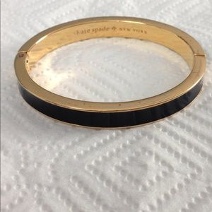 Kate spade black bangle bangle bracelet